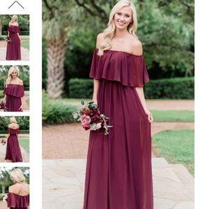 Abigail chiffon bridesmaids dress
